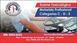 Toxicológico - Motorista - Categoria C-D-=E
