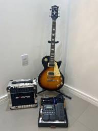 Guitarra Les Paul Strinberg com Cubo e Pedaleira