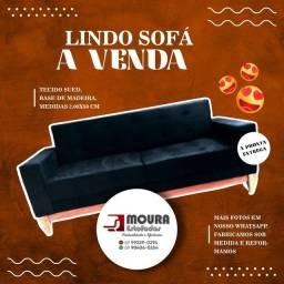 Sofá base de madeira
