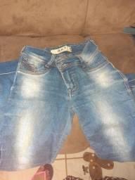 Calças jeans e shorts tamanho 38/40