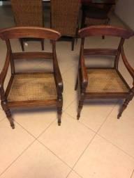 Cadeiras com palha antigas