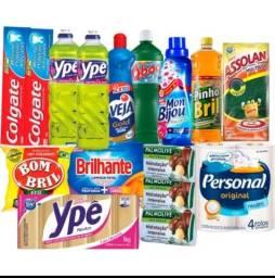 Título do anúncio: Cesta Basica Higiene e Limpeza Plus 16 Itens Super Qualidade