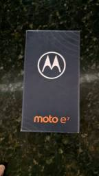 MOTO E7 32G novo sem uso completo