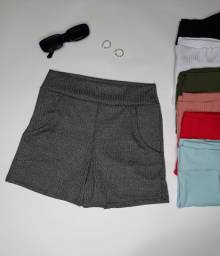 Shorts canelados