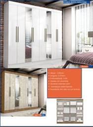 Título do anúncio: Guarda roupa de casal com espelho 8 portas promoção imperdível aproveite