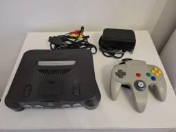 Título do anúncio: Nintendo 64 completo em ótimo estado