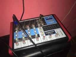 Mesa analógica mais microfone
