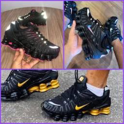 Nike Shox 12 Molas Refletivo ( Lhn Premium )