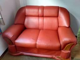 Título do anúncio: Sofá 2 lugares + puff + capa sofá