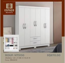 Título do anúncio: Guarda Roupas NT5130 6 Portas #Entrega e Montagem Grátis