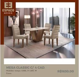 Título do anúncio: Mesa Com 4 Cadeiras Classic #Entrega e Montagem Grátis