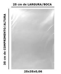 Saco Plástico Transparente 25x35x0,06