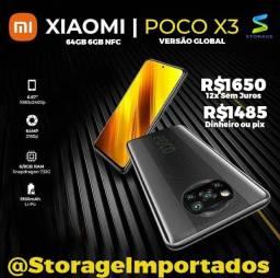 Título do anúncio: Xiaomi Poco X3 NFC 64Gb 6Gb Ram novo Lacrado com garantia