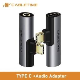 Adaptador USB C para audio 3.5mm