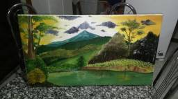 Quadro pintura em tela para decoração