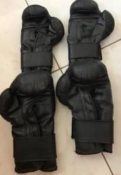 2 Pares De Luva Jugui: Para Boxe, Muay Thai, Kickboxing e/ou Combate