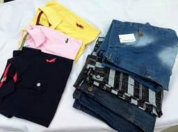 Camisas Polo e bermudas