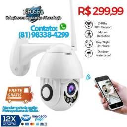 Câmera IP Externa Speed Dome Ip Zoom FullHD Audio (Frete Gratis Ultimas Unidades)