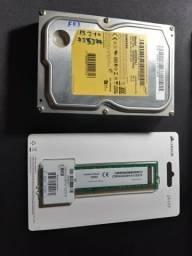 Vendo HD Samsung 320gb e memória RAM 4 GB corsair lacrada