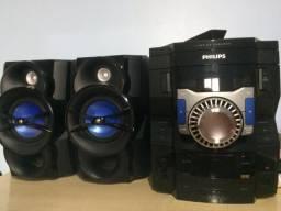 Aparelho de som - mini system philips 200w rms - frete gratuito