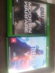 Call of duty moderm warfare/// battlerfield 5 Xbox one