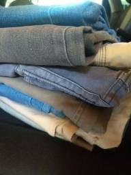 Vendo 10 peças jeans por 200 reais!