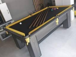 Mesa de Bilhar e Sinuca Bordas Amarelas Modelo MDW3540