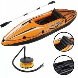 Caiaque Bote Inflável Sport Pathfinder Com Remo + Inflador
