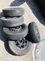 Rodas 13 pneus meia vida