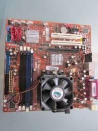 Usado, R$ 150 Kit Placa MB AM2 SM3322 + Processador Phenom II 550 + Cooler comprar usado  Duque de Caxias