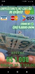 Empréstimos no cartão de crédito parcelamos em 10x ZAP *