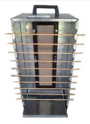 Churrasqueira Aço Galvanizado Portátil 10 Espetinhos Gás