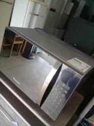 Microondas inox espelhado novinho 32L