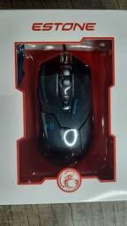 Mouse Gamer Estone X8 2400dpi Ergonomic Led Red