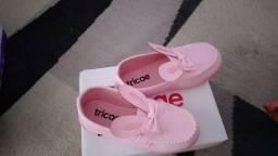 Sapato feminino infantil, mocassim rosa .