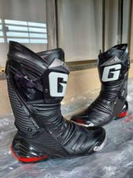Bota Gaerne GP1 Racing Italiana 41BR Moto Motociclista Confortável