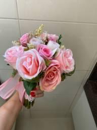 Buquê e coroa de flores