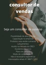 Título do anúncio: vagas  consultor de vendas