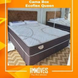 Cama Box Ecoflex Molas Ensacadas 1,58x1,98 Queen Entrega Grátis