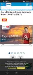 """Título do anúncio: Tv Android 55"""" 6 meses de uso"""
