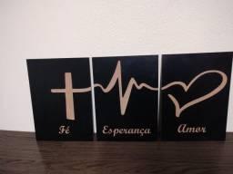 Título do anúncio: Quadro fé esperança amor