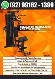 Título do anúncio: Estação de Musculação Athletic Power 45 Exercicos + Entrega e Montagem Gratis em 2 Dias