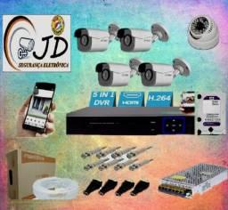 Título do anúncio:  instalação sistemas de cameras com material e todo kit incluso no serviço