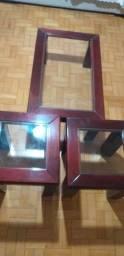 Título do anúncio: Mesas em mogno e vidro