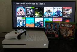 Título do anúncio: Xbox One S 1TB c/ 1 controle + 2 jogos + Garantia - leia a descrição !!!