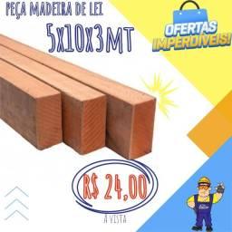Peça de madeira  5x10x 3mts - *