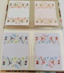 Título do anúncio: Pasta com papel de carta para coleção