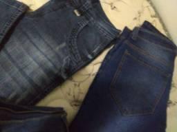 Lote 3 calças jeans masculina 40 seminovas