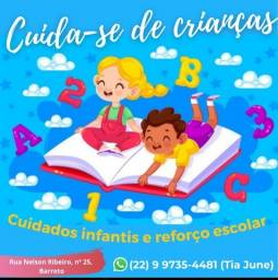 Título do anúncio: Cuidados infantis e reforço escolar