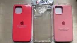 Título do anúncio: Capa Iphone 12 Pro máx Rosa, Rosa Claro e transparente